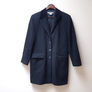black wool cashmere coat vintage